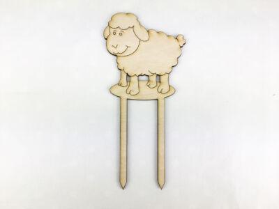 Natúr fa - Beszúrós duci bárány 8cm