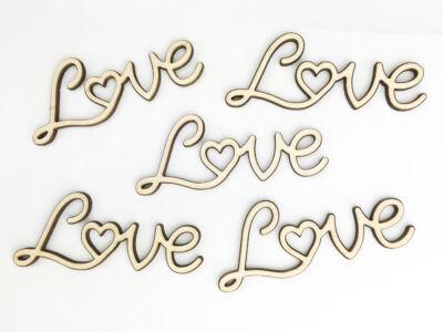 """Natúr fa - """"Love"""" felirat 8cm"""