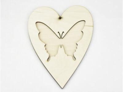 Natúr fa - Áttört szív lepke 20cm