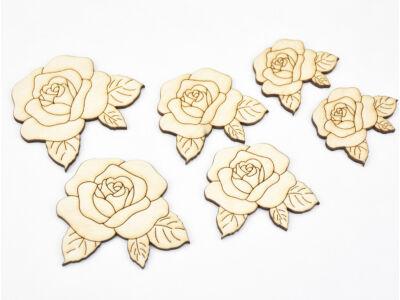 Natúr fa - Rózsák több méretben 6db/csomag