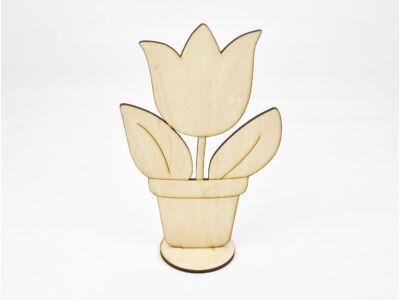 Natúr fa -  Talpas cserepes tulipán 19cm