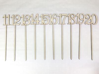 Natúr fa - Beszúrható számok 11-20-ig 26cm