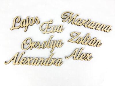 Natúr fa - Egyedi felirat kívánság szerint /betű