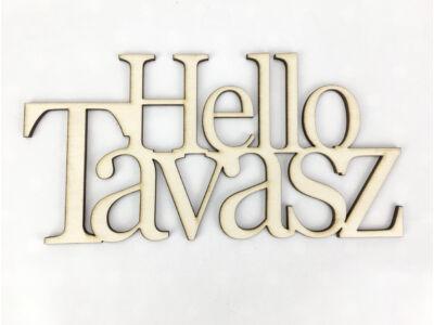 "Natúr fa - ""Hello Tavasz"" felirat koszorúra 10x20cm"