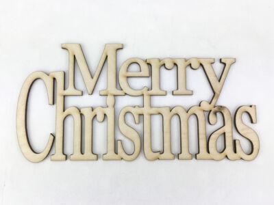 """Natúr fa - """"Merry Christmas"""" felirat koszorúra 20cm"""