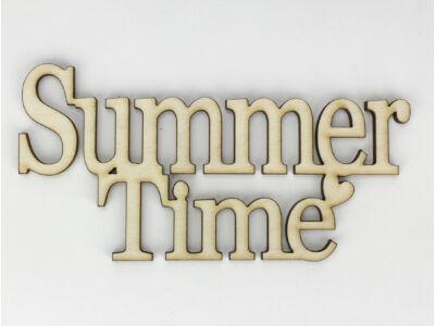 "Natúr fa - ""Summer Time"" felirat koszorúra 10x20cm"
