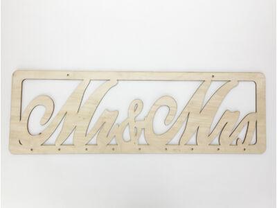 "Natúr fa - Natúr fa ""Mr&MRS"" tábla 63cm"
