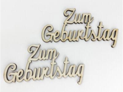 "Natúr fa - ""Zum Geburtstag"" felirat"
