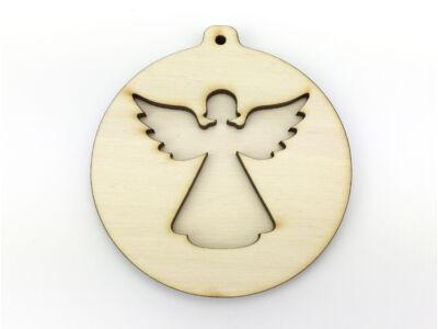 Natúr fa - Karidísz dupla angyal 8,5cm