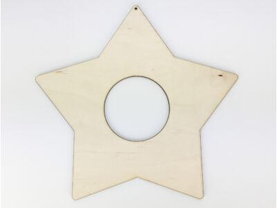 Natúr fa - Csillag koszorú 24x25cm