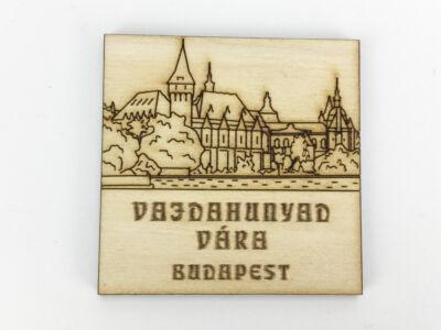 Natúr fa - Hűtőmágnes Vajdahunyad vára