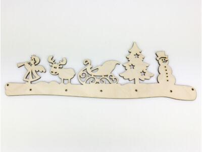 Natúr fa - Karácsonyi ajtódísz