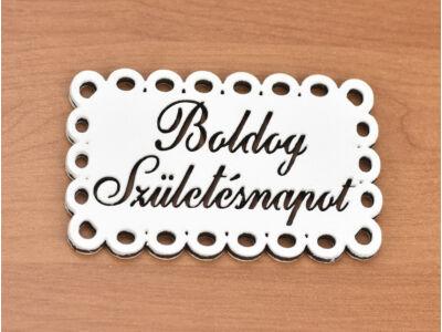 """Fa - """"Boldog Születésnapot"""" csipkés tábla fehér"""