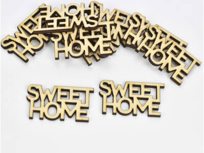 "Natúr fa - ""SWEET HOME"" mini felirat 10db/csomag"