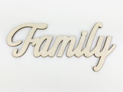 "Natúr fa - ""Family"" felirat 9x18cm"