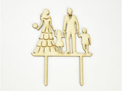 Natúr fa - Tortadísz esküvő gyerekekkel
