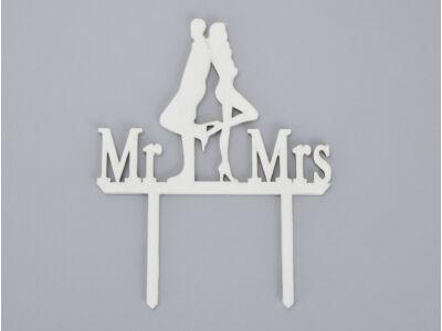 Fa - Tortadísz Mr&Mrs az igazi fehér
