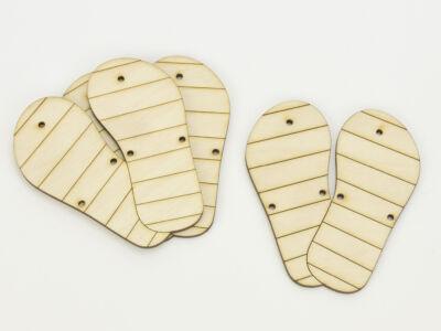Natúr fa - Strandpapucs kicsi 7,5x8,2cm 3pár/cs