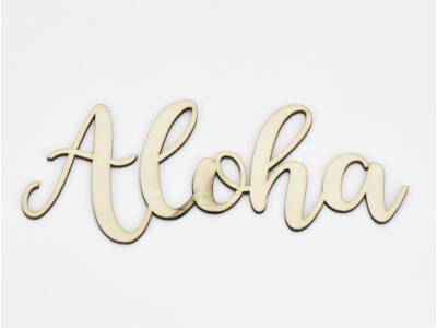 "Natúr fa - ""Aloha"" felirat 7,7x20cm"
