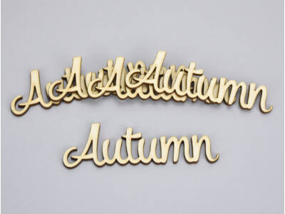 "Natúr fa - ""Autumn"" felirat 3x10cm 5db/csomag"