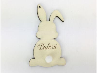 Húsvéti nyuszi egyedi gravírral krém 8,4x4,6 cm