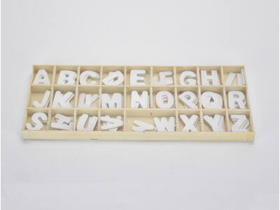 Fa betűk dobozban fehér 2,3cm