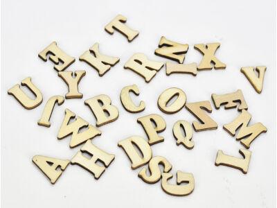 Fa betűk natúr 2cm 26betű/csomag