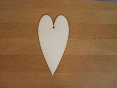 Natúr fa - Szív hosszúkás 10x20cm