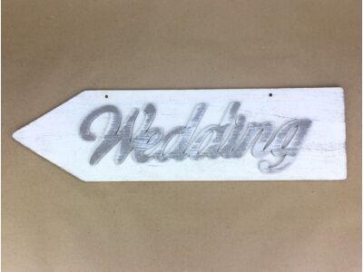 """Fa - """"Wedding"""" nyíl bal 50cm fehér"""