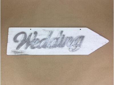 """Fa - """"Wedding"""" nyíl jobb 50cm fehér"""