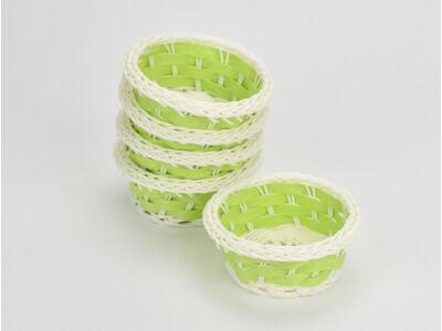 Színes tálka műanyag zöld 5db/cs -OKOS ÁR!