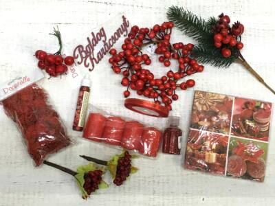 Karácsonyi piros szett   - Okos Ár!