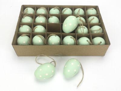 Pöttyös zöld tojás 24/csomag