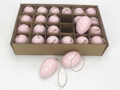 Pöttyös pink tojás 24/csomag