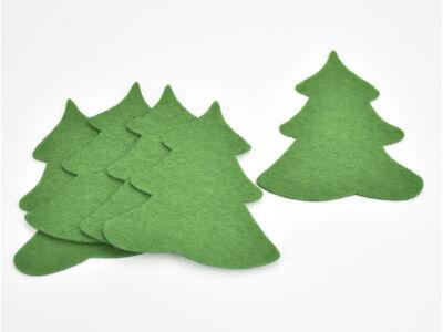 Filc - Fenyő zöld 10cm 5db/csomag