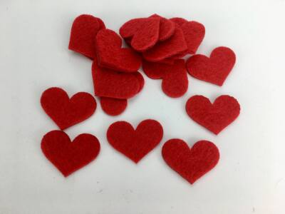 Filc - Romantik szív 2x3cm 20db/csomag