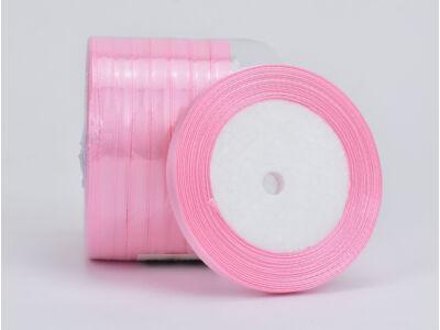 Rózsaszín szatén szalag 10 tekercs - OKOS ÁR!