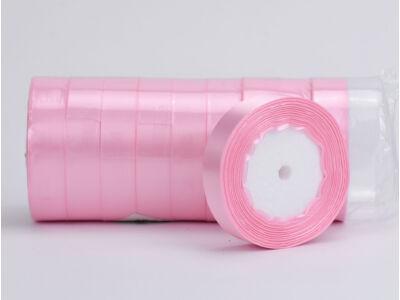 Rózsaszín szatén szalag 2cm 10 tekercs - OKOS ÁR!