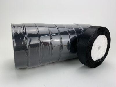 Fekete szatén szalag 2cm 10 tekercs - OKOS ÁR!