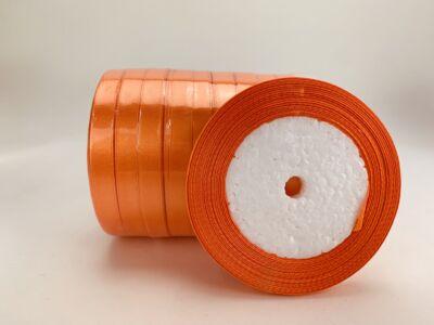 Narancssárga szatén szalag 10 tekercs - OKOS ÁR!