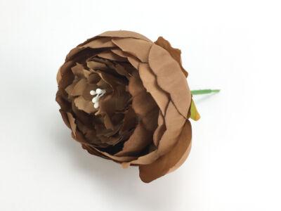 Beszúrós pünkösdi rózsa fej sötétbarna 7cm