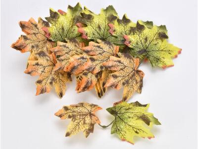 Őszi falevelek zöld-narancs 48db/csomag