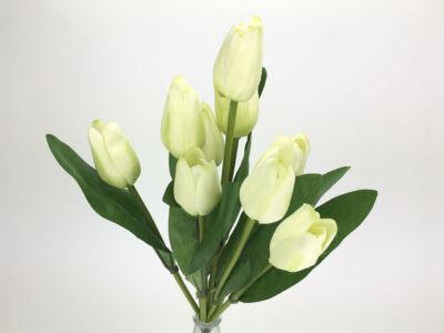 Tulipán csokor kicsi krém
