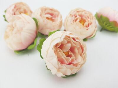 Boglárka fej 5,5 cm  cirmos rózsaszín 6db/csomag