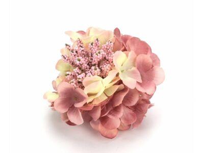 Hortenzia fej cirmos-rózsaszín
