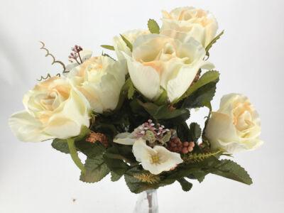 Rózsabimbó csokor 9 ágú krém