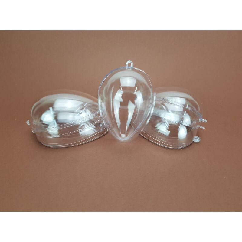 Szétválasztható műanyag tojás forma kicsi 5db/csom