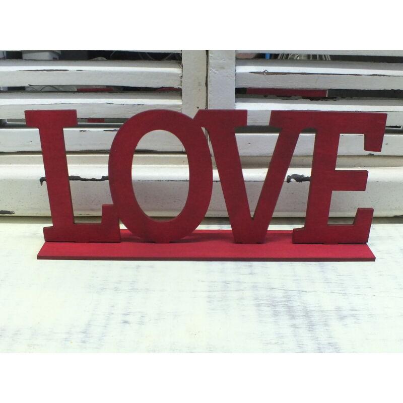LOVE felirat talppal meggypiros 25cm