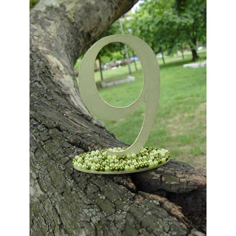 Natúr fa - Asztalszám 9-es 15cm