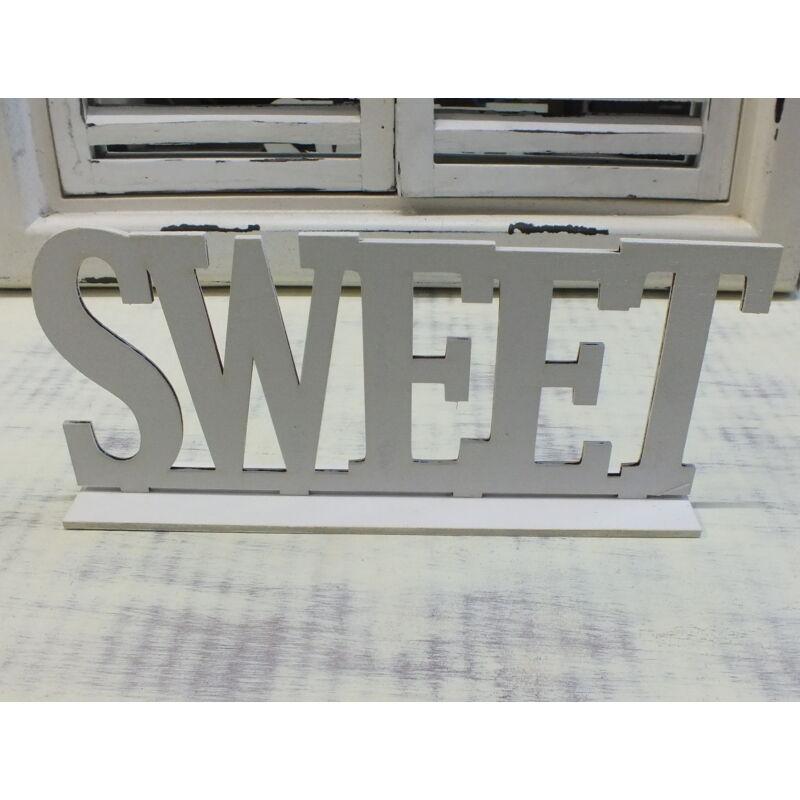 SWEET felirat talppal fehér 25cm